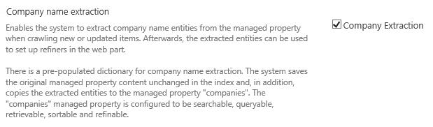 Company Extraction